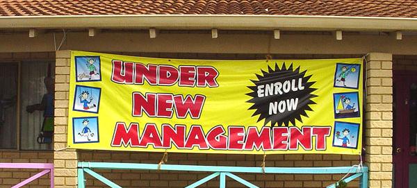 Business Signs Banner Under New Management 4 x 10 FT Banner Sign